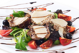 Italian salad with veal