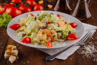 Caesar with shrimps