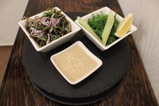 Alge hiași & kombu cu boabe de soia verde la aburi