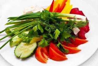 Овощи с брынзой