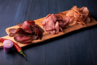 Assorted cured meat