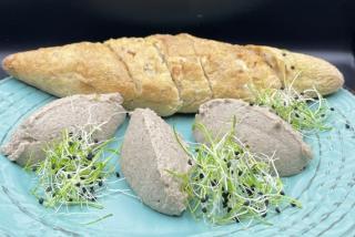 Gray baguette rustic