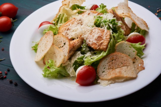 Caeser Salad with Salmon