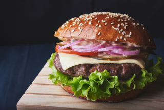 """Burger with beef meat """"Black Angus"""""""