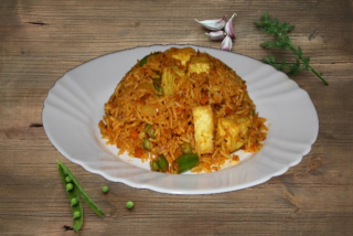 Paneer with rice