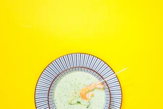 Холодный Суп Панган с креветками