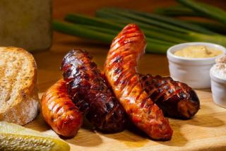 Sausages fried beer