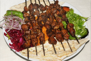Ciğer Kebap / Shish kebab from the liver of lamb