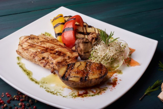 Chicken Steak with Grilled Veggies