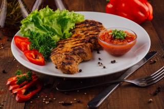 Pork BBQ with adjika sauce