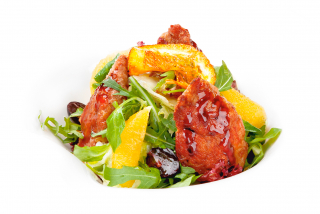 Mixed-salad with duck fillet