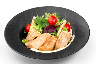 Salad with chicken fillet