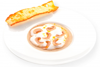 Cream of mushroom soup with truffle paste