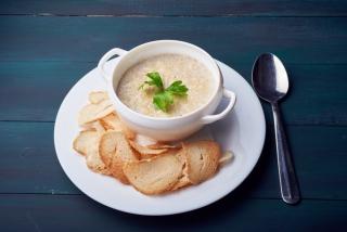 Суп-крем с курицей и грибами