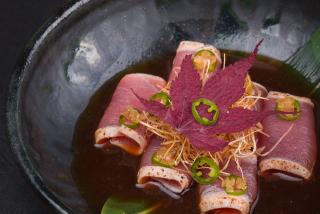 Tataki tuna with Ponzu sauce
