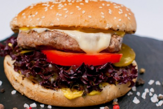 Burger with veal