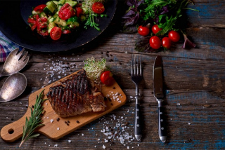 Beef entrecote (weight product)