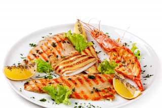 Grilled seafood assortment