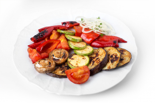 Assorted vegetables grilled