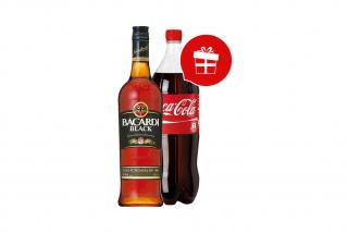 Bacardi black + Coca Cola