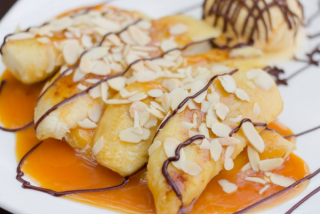 Banana dessert in Baileys sauce