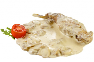 Rabbit in white sauce