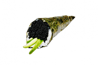 Black Tobiko Hand Roll