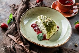 Pancake cake Matcha