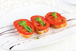 Bruschette with tomatoes and oregano