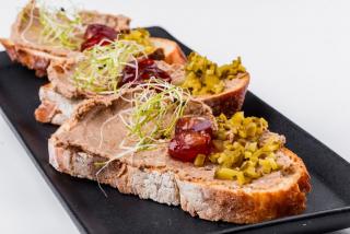 Bruschette with Chicken liver pate