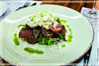 Young Buratta with cherry tomatoes