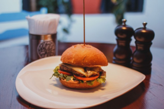 Burger with salmon