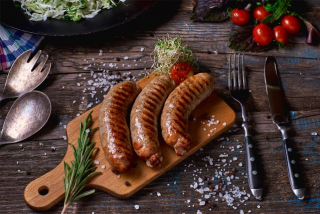 Sausages porc/beef (weight product)