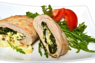 Cordon-blue with spinach