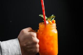 Carrot peach lemonade