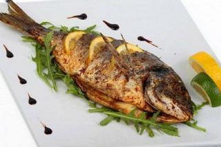 Pыба дорадо на гриле(весовое блюдо)