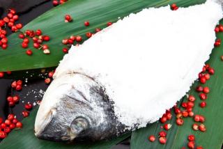 Dorada baked in salt