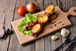 Potatoes with Bacon Grilled