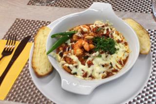 Fajitas with seafood