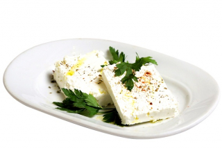 Feta with olive oil