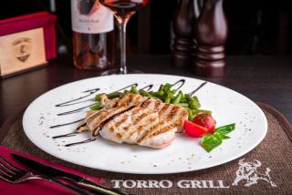 Turkey breast on grill