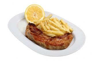 Pork sirloin with potatoes
