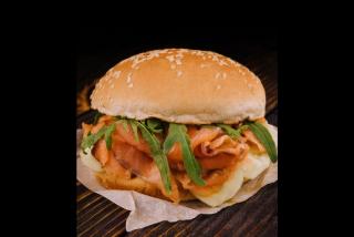 Fresh fish burger