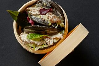 Гуа Бао с телятиной в сливочном соусе