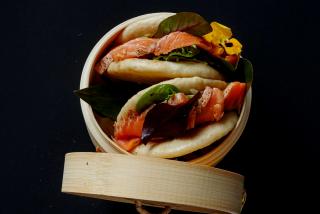 Gua Bao with salmon Tataki