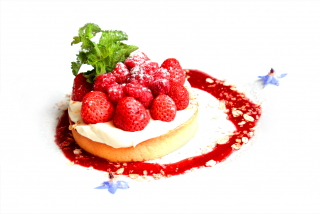 Tart with ricotta and berries