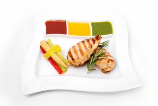 Chicken breast with vegetables soute