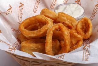 Кольца кальмарa фри с соусом тартар