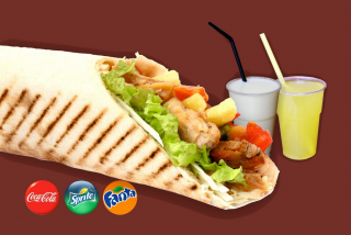 Combo menu  Kebab with mushrooms