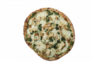 Pizza con Spinach
